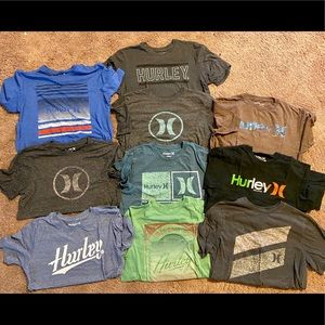 Lot of 10 Hurley shirts